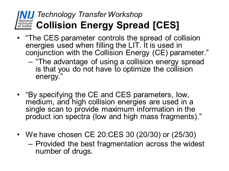 Collision Energy Spread [CES]